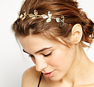 cheap -Women's Girls' Gold Plated Alloy Headband Flower