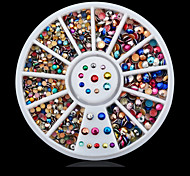 cheap -1wheel colorful nail decoration wheel Rhinestones Nail Jewelry Classic Lovely Daily Classic Lovely High Quality