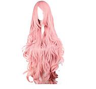 Недорогие -Искусственные волосы парики Свободные волны Боковая часть С чёлкой Карнавальный парик Парик для Хэллоуина парик Костюм Очень длинный