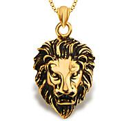 Недорогие -мода лев ювелирных животных кулон золото 18k покрыло мужчины / женщины подарок p30137