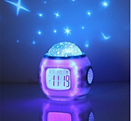 cheap -1pc Alarm Clock Sky Projector NightLight AA Batteries Powered Romantic Creative
