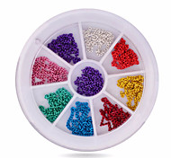 preiswerte --Finger-Nail Schmuck-Acryl-1wheel metal chains nail decorationsStück -6cm wheelcm