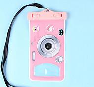 economico -Scatole a secco / Borse impermeabili Unisex Cellulari / Custodie per fotocamere / Impermeabile / Touch Screen Sub e immersioni Rosso PVC