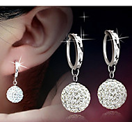cheap -Women's Rhinestone Drop Earrings - Bridal Elegant Silver Ball Earrings For Daily Casual