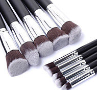 10PCS Professional Cosmetic Makeup Brush Set Eyeshadow&Face Foundation Blending Blush Powder Brush Kit