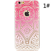 Mandala flower Painted Pattern Hard Plastic Back Cover For iPhone6/6S 4.7""
