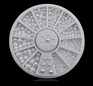 1wheel White Half Pearls 3d Nail Art Decorations
