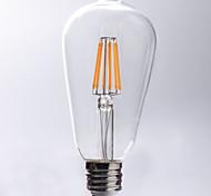 preiswerte -1pc 7W 720 lm E26/E27 LED Glühlampen ST64 8 Leds COB Wasserfest Dekorativ Warmes Weiß Wechselstrom 220-240V