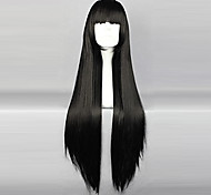Cosplay Wigs InuYasha Sango Black Long / Curly Anime Cosplay Wigs 80 CM Heat Resistant Fiber Female