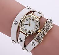 cheap -Women's Bracelet Watch Fashion Watch Quartz Casual Watch Leather Band Flower Black White Blue Orange Brown Pink