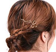 cheap -Women Casual Handmade Hollow Clover Hair Clips Alloy Hair Accessories 1pc