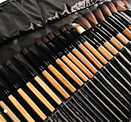 cheap -32pcs Makeup Brush Set Synthetic Hair Nylon Eye Face Lipstick Eyebrow Eyeliner Mascara EyeShadow Blush Concealer Powder Lip