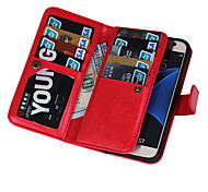 cheap -2 in 1 Magnetic 9 Cards Slots Flip Leather Case For Samsung Galaxy S4/S5/S6/S6 Edge/S6 Edge+/S7/S7 Edge