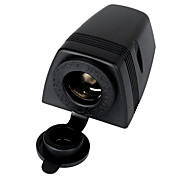cheap -Jtron Water Resistant Cigarette Lighter Socket for Car & Motorcycle - Black