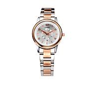 SINOBI Women's Fashion Watch Casual Watch Calendar Water Resistant / Water Proof Quartz Alloy Band Rose Gold Strap Watch