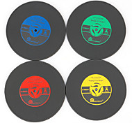 1Pcs Vintage Vinyl Coasters Groovy CD Record Table Bar Drinks Cup Mat (Ramdon Color)