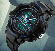 SKMEI® Men's Fashion Double Time Analog & Digital Rubber Band Quartz Watch Wrist Watch Cool Watch Unique Watch