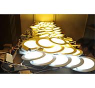 LED Panel Lights 30pcs SMD 2835 500-550lm Warm White Cold White Natural White 2800-6500K Decorative AC 85-265V