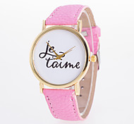 cheap -New Arrival Fashionable Casual Women's Wrist Watch Pu Leather Quartz Lava with Words Printed On Dial Cool Watches Unique Watches Strap Watch