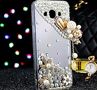 Para Funda Samsung Galaxy Carcasa Funda Diamantes Sintéticos Cubierta Trasera Funda Brillante TPU para Samsung J7 J5