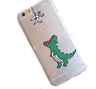 iphone 7 плюс маленький динозавр рисунок прозрачный материалы телефон случае для Iphone 6 / 6S / 6plus / 6с плюс