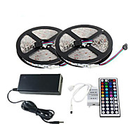 cheap -ZDM® 2x5M / 10m Light Sets 2*150 LEDs 1 44Keys Remote Controller / 1 x 12V 3A Adapter / 1 AC Cable RGB Cuttable / Waterproof /