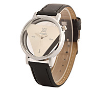 Women's Fashion Watch Quartz PU Band Black White