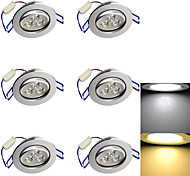 LED Recessed Lights 3 High Power LED 280 lm Warm White Cold White 3000K/6000K K Decorative AC 85-265 AC 220-240 AC 110-130 V