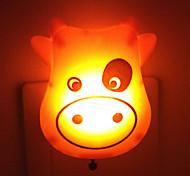 Недорогие -творческий теплый белый корова датчик света, относящиеся к ночной сон ребенка свет (случайный цвет)