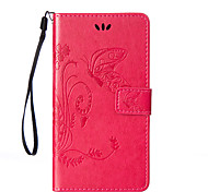 cheap -For Sony Xperia Z5/Z4/Z3/Z3Mini/Z2/M5/M4/M2 Flowers Butterfly Pattern Inside and Outside Printing Holder PU Leather Case