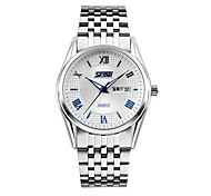 Skmei®Men's Fashion Multifunction Calendar Wrist Watch with Stainless Steel Band Assorted Colors Cool Watch Unique Watch