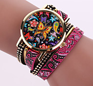 cheap -Women's Quartz Wrist Watch Casual Watch Leather Band Bohemian Fashion Black White Blue Silver Red Brown Green Pink Purple Beige Navy Rose