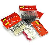 Недорогие -7pcs штук Рыболовная приманка Мормышки в наборах Мягкие пластиковые Ловля на приманку Ужение на спиннинг