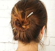 cheap -Women Fashion Minimalist Metal Bar Hairpin Hair Sticks Alloy Hair Accessories 1pc