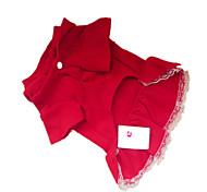 economico -Cane Vestiti Abbigliamento per cani Rosso scuro Costume Per animali domestici