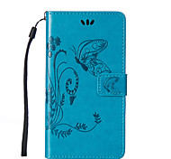 cheap -For LG L90/K10/K7/H422/G4/G3Mini/G3  Flowers Butterfly Pattern Inside and Outside Printing Holder PU Leather Case