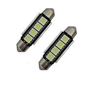 1.5W Festoon Decoration Light 4 SMD 5050 80-90lm Cold White 6000-6500K DC 12V