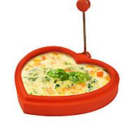 Недорогие -силикона в форме сердца яйцевидной формы кольцо и блинница яйцо жареное жарки блинов приготовления пищи плесень (случайный цвет)