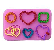 Love heart Shaped Silicone Fondant Cake Cake Chocolate Silicone Molds,Decoration Tools Bakeware