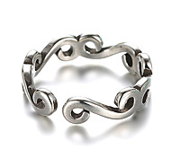 Men's Women's Band Rings Cuff Ring Vintage Silver Sterling Silver Jewelry For Daily Casual