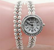 Women's Fashion Watch Bracelet Watch Quartz Alloy Band Elegant Silver