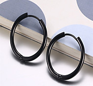 Women's Hoop Earrings Fashion European Costume Jewelry Stainless Steel Circle Jewelry For Party Daily Casual