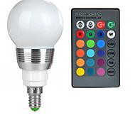 Недорогие -100-200 lm E14 Круглые LED лампы A50 1 светодиоды Высокомощный LED На пульте управления RGB AC 85-265V