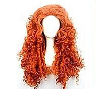 жен. Парики из искусственных волос Длиный Красный Парики для косплей Парик для Хэллоуина Карнавальный парик Парики к костюмам