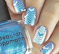 1pcs  New Nail Art Stamping Plates  DIY Geometric Image Templates Tools Nail Beauty XY-J04