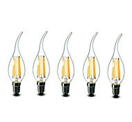 E14 LED лампы в форме свечи CA35 6 светодиоды COB Диммируемая Тёплый белый 600lm 2700K AC 220-240V