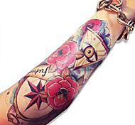 водонепроницаемый корпус череп розы цветы графический поддельные передачи сексуальная временную татуировку