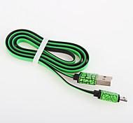 Недорогие -usb 2.0 плоские алюминиевые кабели 100 см телефонные кабели& адаптеры сотовые телефоны универсальные аксессуары