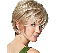 Women Synthetic Wig Short Straight Blonde Natural Wigs Halloween Wig Carnival Wig Costume Wig