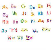 Cartoon 26 Alphabet English Letters PVC Wall Stickers Environmental Children's Bedroom Kindergarten Wall Art Wall Decals